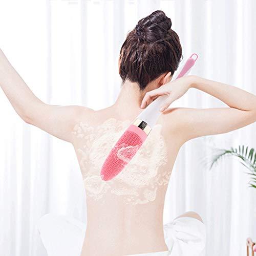 Pangjxud Dusche Bürste Electric Silicone Dusche Bürste Dusche Massage Stiel Körperreinigungsbürste Bad-Werkzeug