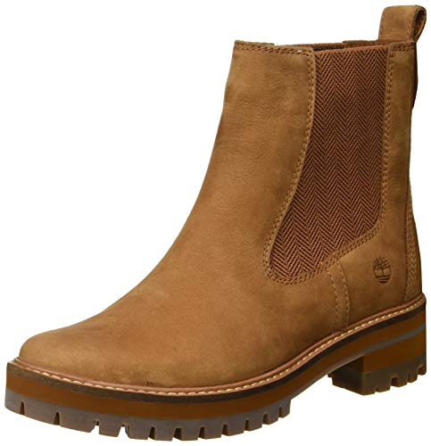 Timberland Damen Courmayeur Valley Chelsea Boots, Braun Medium Brown Nubuck, 41 EU