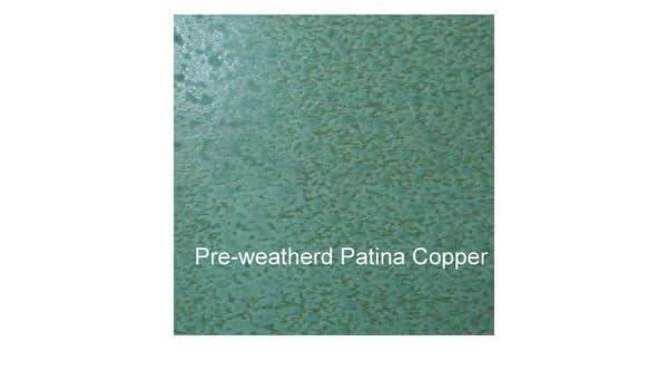Edelrost Auf Kupfer sie schneidet preweathered metall edelrost kupfer grün 100 mm x