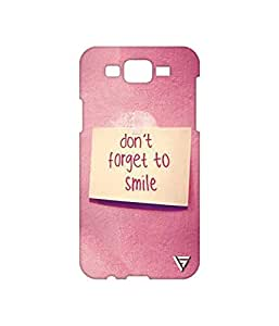 Vogueshell Don't Forget To Smile Printed Symmetry PRO Series Hard Back Case for Samsung Galaxy J7