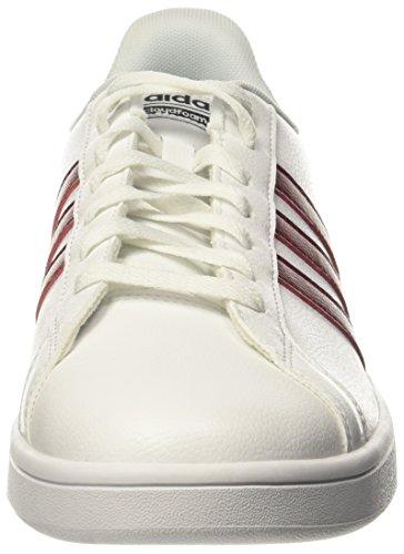 adidas Cloudfoam Advantage, Baskets Homme Multicolore (Ftwr White/collegiate Burgundy/core Black Ftwr White/collegiate Burgundy/core Black)