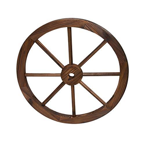 Rad aus Holz im Vintage-Stil mit Einem Durchmesser von 45 Zentimetern I Modell: 0965082 I Dekoratives Rad I Rad aus massivem Holz I Rollen für Rollwagen Antik I