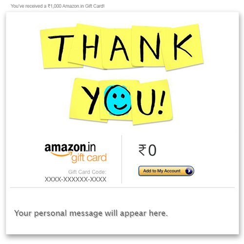 thank you card for a gift
