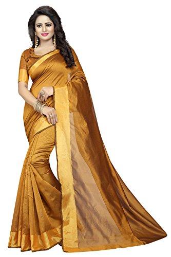 Sarees(Kastabhanjan Brown Designer Casual wear Silk women's saree for daily wear)