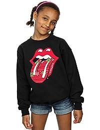 Rolling Stones niñas Christmas Tongue Camisa De Entrenamiento