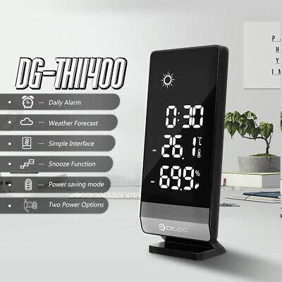 Destock Digoo DG-TH11400 - Alarma Snooze Reloj Temperatura Humedad estación meteorológica 12h/24h