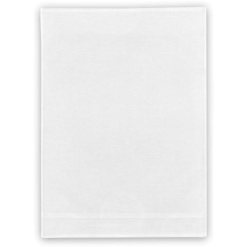 Kracht strofinaccio in cotone, lino Trio, multi funzione Tuch, Tessuto, Bianco, 50 x 70cm - 00 Bianco Trio