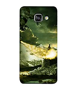 PrintVisa Designer Back Case Cover for Samsung Galaxy A9 Pro (Nature Abstract Illustration Greenery Clouds Sky Mountain Hazardous)