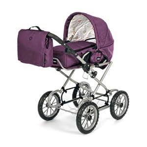 Brio 63891398 Premium Combi - Cochecito para muñecas (Incluye Funda), Color Morado