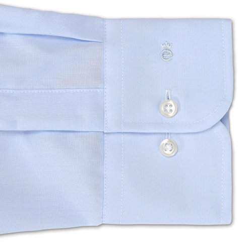 "Herren Hemd ""Slim Fit"" Langarm Bleu"
