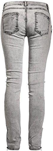 Fashion Victim Biker Jeans Girl-Jeans grau Grau ...