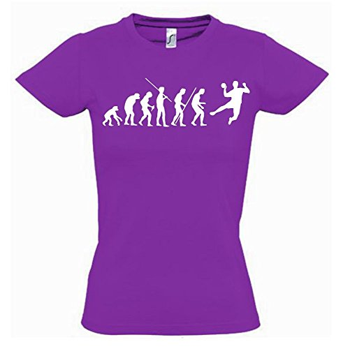 HANDBALL Evolution Kinder T-Shirt lila-weiss, Gr.152cm