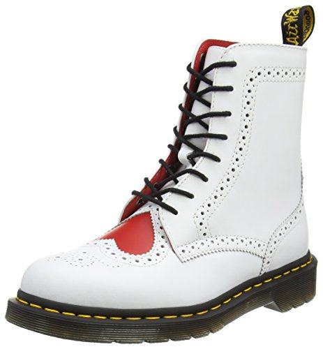 Dr. Martens Bentley II HRT, Stivali Chukka Donna Bianco (White/heart Red Venice/smooth)