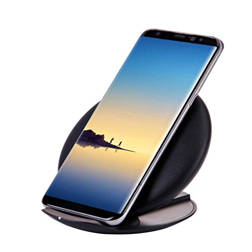 Sansee Qi Ladegerät Qi Drahtloses Ladegerät Schnelllade Ständer für Samsung Galaxy Note 8/S8/S8 Plus (Schwarz)
