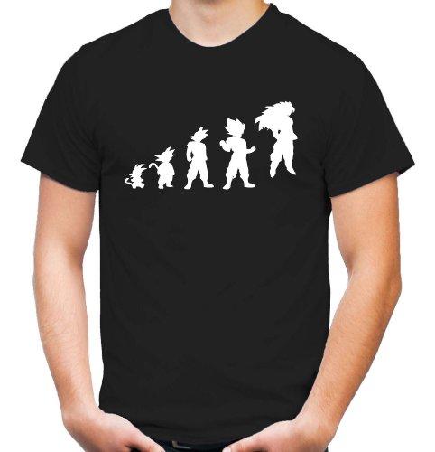 Evolution Son Goku T-Shirt | Dragonball Z | MMA | Saiyajin | Super | Saiyan | Sons of | Männer | Herrn | Kult