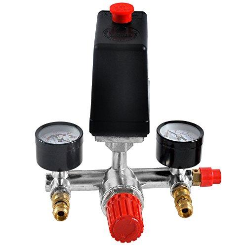 FUNTELL Druckregler mit Luftkompressor Schalter Luftregler Druckschalter Kompressorschalter Kompressor Druckwächter