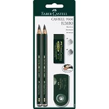 Faber-Castell 119398 9000 Jumbo - Juego de lápices, color verde