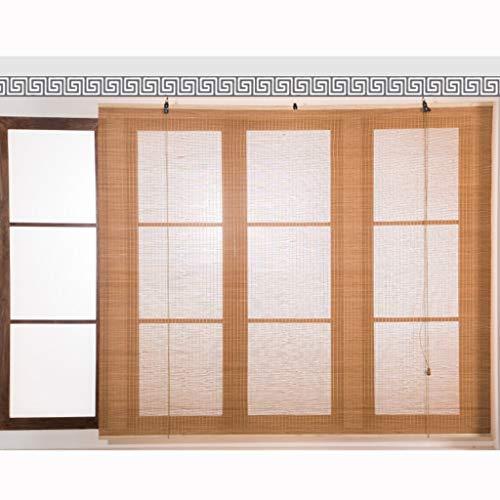 LJA Outdoor Carbonized Bambus Vorhang Rollo Interieur Exterieur Vertikale Verdunkelung Pavillon Deck Hof Veranda Carport Studie Balkon Partition (Size : 90×160cm)