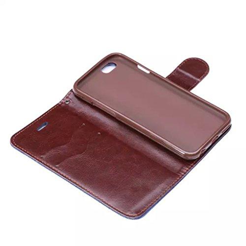 """Trumpshop Smartphone Case Coque Housse Etui de Protection pour Apple iPhone 6/6s 4.7"""" + Bleu + Toile Portefeuille PU Cuir Avec Fonction Support Anti-Choc Anti-Rayures Bleu Profond"""