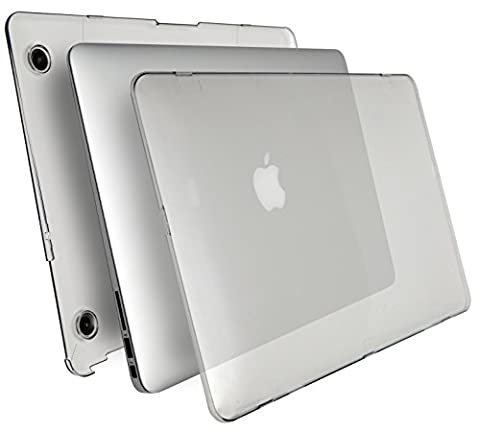 MyGadget *Crystal* Case Hülle - für Apple MacBook Air 13 Zoll - Mac ab Mitte 2011 (A1466/A1369)- Hardcase Hart Cover Schutzhülle in Transparent