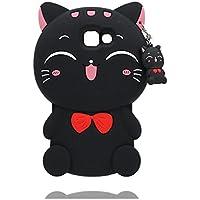 Samsung Galaxy A5 2016 Coque, Samsung Galaxy A510 étui, TPU Durable Cartoon Cute Cartoon Case Shell - [ Cartoon 3D chat ], Rides résistant Noir