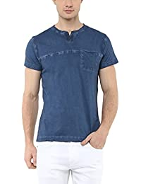 American Crew Men's Crew Neck Garment Dyed T-Shirt