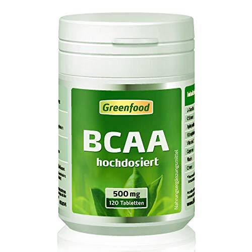 BCAA, 500 mg, hochdosiert, 120 Tabletten, vegan - fördert den Muskelaubau, sichert den Muskelerhalt. OHNE künstliche Zusätze. Ohne Gentechnik. - Bcaa 500 Mg 120 Kapseln