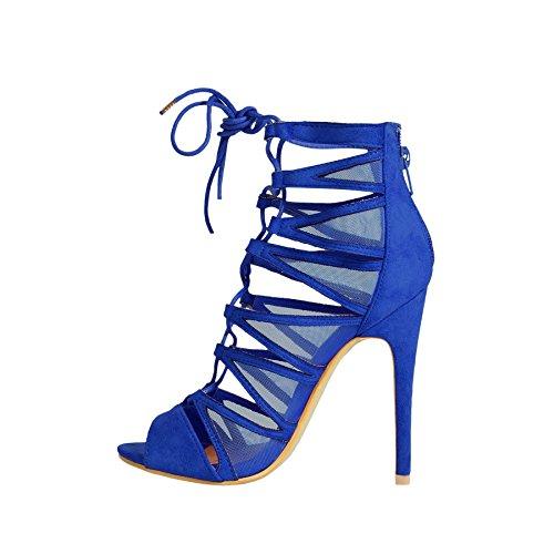 Fusion , Escarpins pour femme Electric Blue Suede