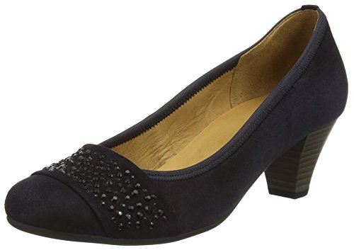 Gabor  Wallace,  Damen Pumps , Blau - Blau (Dunkelblaues Wildleder), Gr. 41 EU (7.5 UK)