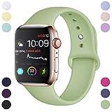Hamile Compatible avec Apple Watch Bracelet 42mm 44mm, Sport en Silicone Souple...