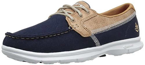Skechers Women's Go Step-Seashore Boat Shoes, Blue (navy), 6 UK