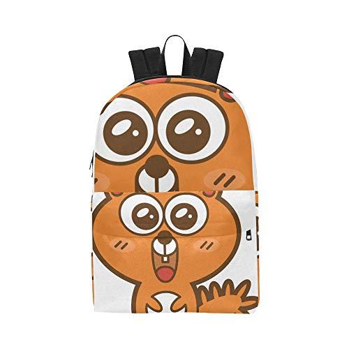 Eichhörnchen Cute Wild Animal Classic Cute Wasserdichte Laptop Daypack Taschen School College Kausal Rucksäcke Rucksäcke Bookbag für Kinder Frauen und Männer Reisen mit Reißverschluss und Innentasche