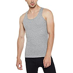 Neva Men Slim Fit Thermal Top Milange Grey Coloured Large