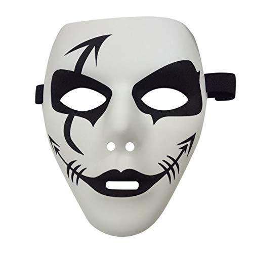 ske Halloween-Kostüm Masken Gesichtsmasken Partykostüme Prop Masquerade Zubehör Gesicht Dekor - Weiß ()