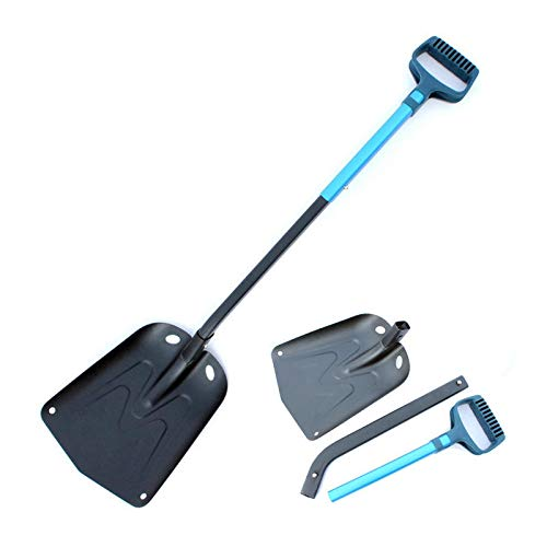 Stainless Steel Long Handle Snow Shovel Outdoor Folding Snow Scooper Car Wash Maintenance Blue Steel Wash