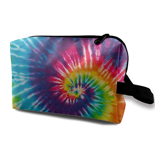 Abstract Swirl Tie Dye Toiletry Bag Waterproof Fabric Cosmetic Bags Travel Case for Women's Accessories Swirl Bling Case