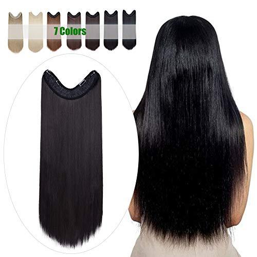 Clip extensión Long Straight Black Hair Band 65cm