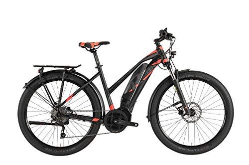 RAYMON E-Tourray 6.0 Damen Pedelec E-Bike Trekking Fahrrad grau/rot 2019: Größe: 44cm (Generalüberholt)