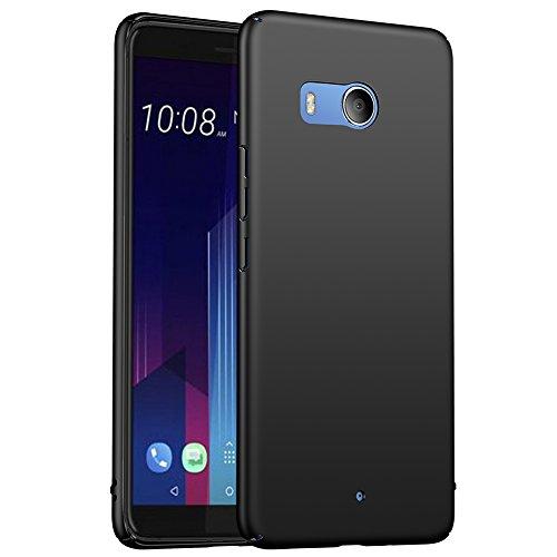 ORNARTO HTC U11 Hülle,Ultra Dünn Schlank Stoßfest, Anti-Scratch FeinMatt Einfach Handyhülle Abdeckung Stoßstange Hardcase für HTC U11 5.5\'(2017) Schwarz