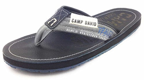CAMP DAVID Footwear  CCU55558232, Tongs pour homme Noir - Noir