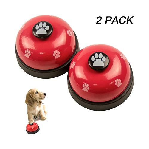 RoyalCare 2 Stück Trainingsglocken für Haustiere, Hund Türklingel für Puppy Toilet Töpfchen Trainings und Kommunikationsgerät (Rot)