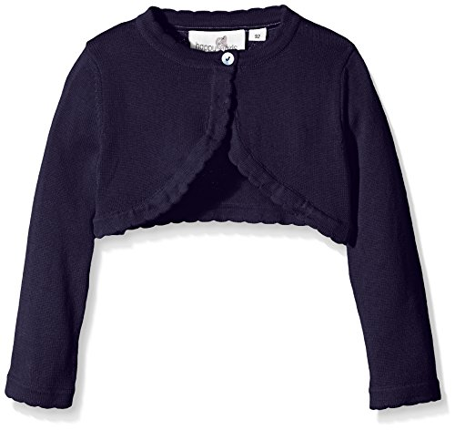 Happy Girls Basic Bolero - chaqueta punto Niño, talla fabricante 146, Azul (navy 62)