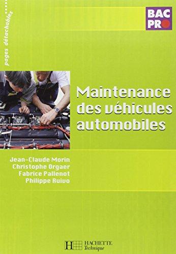 Maintenance des vhicules automobiles Bac Pro