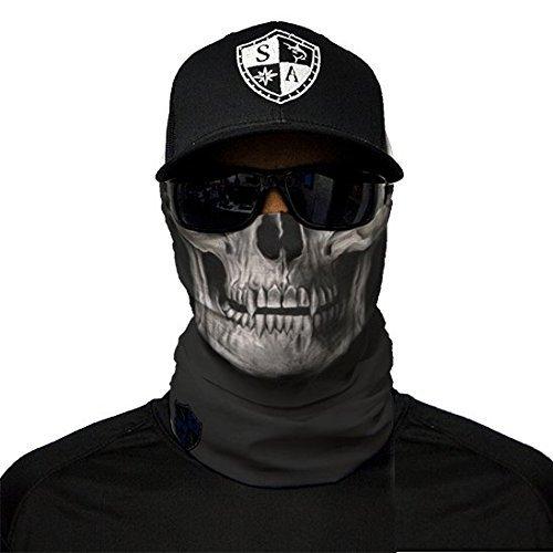 SA Fishing Face Shields ** 40+ Designs verfügbar ** Qualitäts Bandana/Multifunktionstuch / Schlauchtuch/Halstuch aus Stoff & SPF 40 - Face Masks von SA Company, Black ()