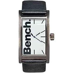 Bench Herren Armbanduhr Schwarz Riemen Weiß Ziffernblatt Uhr (228399322)