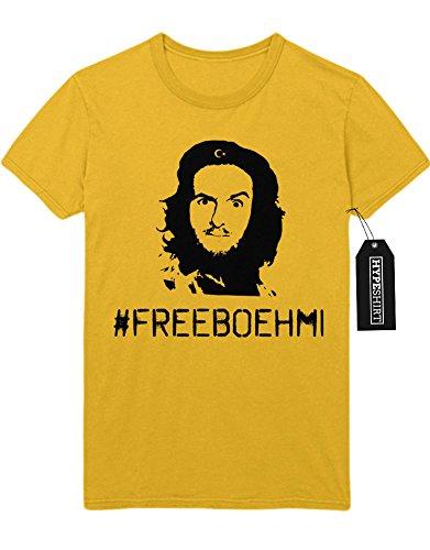 T-Shirt #FREEBOEHMI Erdogan Satire D232301 M (Breaking Anzug Gelben Kostüm Bad)