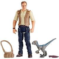 Jurassic World Figura básica Owen con Dinosaurio bebé Blue (Mattel FMM01)