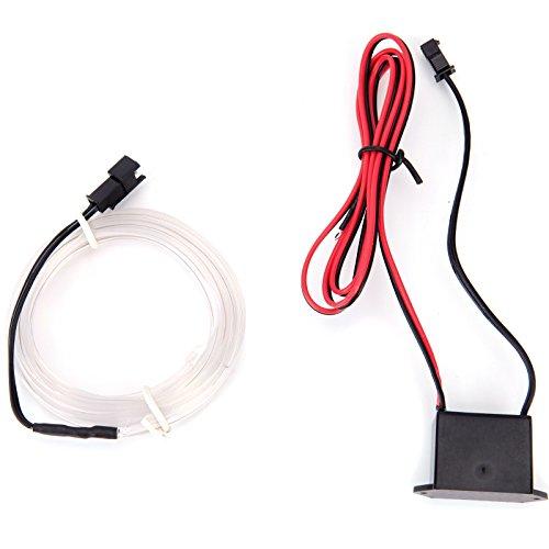 Preisvergleich Produktbild 1 M Weiss Kein LED EL Ambientebeleuchtung Innenraumbeleuchtung Lichtschlauch Auto Innen Licht