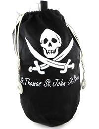 Les Trésors De Lily [H4817] - Sac marin polochon 'Pirate' noir