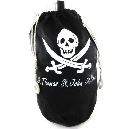 Les Trésors De Lily H4817 - Sac marin polochon 'Pirate' noir